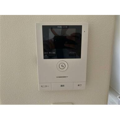 自動録画機能付!カラーモニター付インターホンで急な来客にも安心対応!
