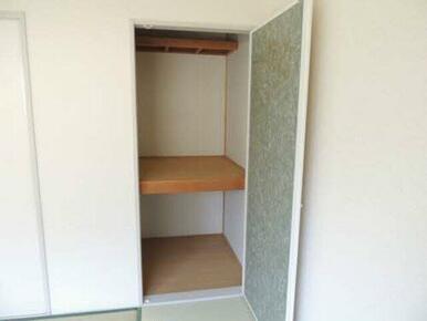 日用品を置ける収納スペースも確保しています!
