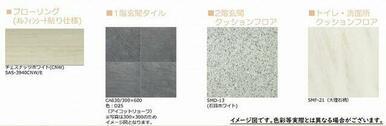 【床材 完成イメージ図】※実際の色等とは異なる場合がございます。お部屋が完成致しましたら実際にご確認