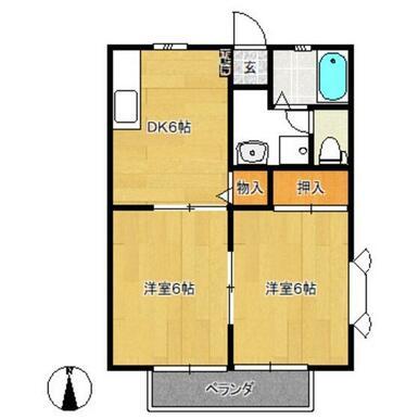 南東の和室は洋室になります。