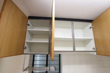 キッチンの上の収納スペース♪