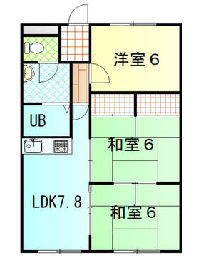 LDK7.8帖 洋室6帖 和室6帖 和室6帖 バストイレ別です