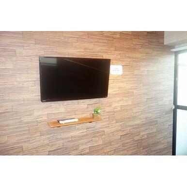 壁掛けテレビ付き