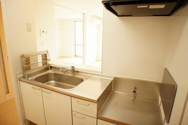 シンクの脇には食器洗い乾燥機専用の台と水栓が付いています。