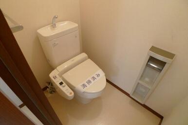 トイレは洗浄機付き便座となります☆