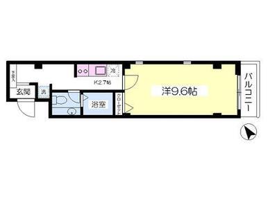 最上階角部屋です