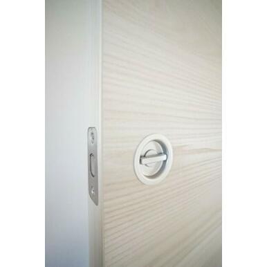 2洋室の出入り扉にはなんとも珍しい「サブロック」が採用されています。これはペットがドアハンドルを触っ
