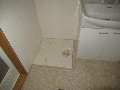 室内に洗濯置き場あり