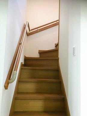 階段には、手すりも付けました!