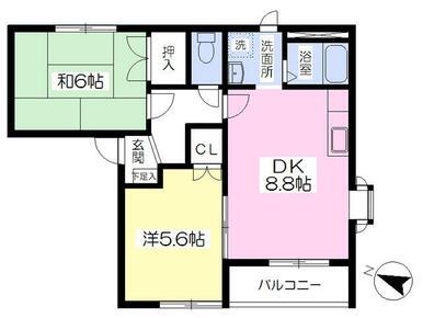 最上階の角部屋・追焚き・エアコン・TVモニターホン完備の2DKタイプ★