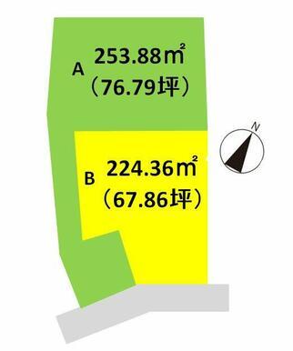 成田中学校近く、2区画販売中です。