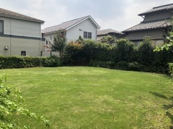 非常に広いお庭! 家庭菜園やBBQなどもできますね!