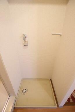 玄関横の洗濯機置場♪