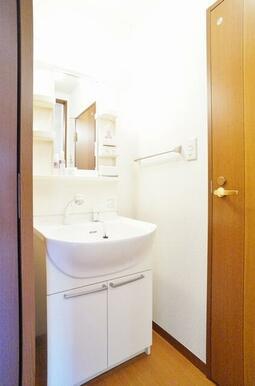 ハンドシャワー付の洗面化粧台です。