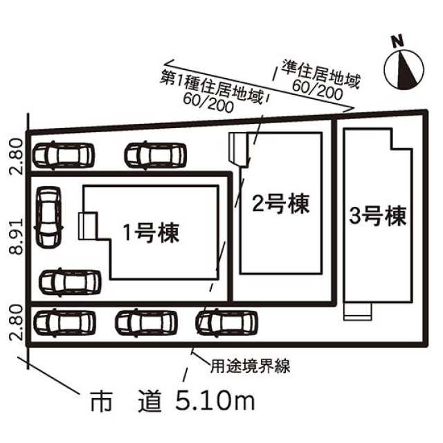 名古屋市中川区 七反田町 (春田駅) 2階建 4LDKの画像