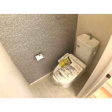 トイレ 従来型より約70%節水を期待できるTOTOのトイレ採用。