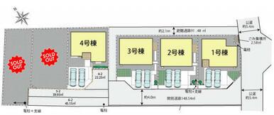 久喜市吉羽6棟の区画図