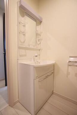 身支度に便利なシャワー付き洗面化粧台♪