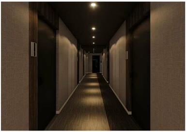 ホテルのような仕様の玄関通路♪