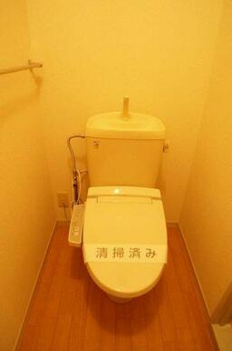 【トイレ】洗浄機能付き暖房便座設置済です
