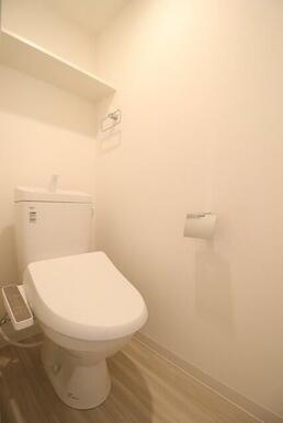 温水洗浄便座付きトイレ(別号室同タイプの写真です)