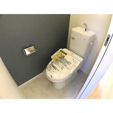 トイレ 従来のトイレより約70%節水を期待できるTOTOのトイレ採用。