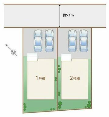 駐車2台可能!