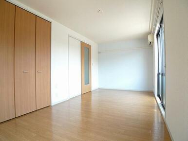 【洋室】洋室収納は2カ所です。エアコン1基付きです。
