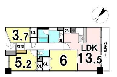 専有面積:63.79㎡ 3LDKの中古マンションです!