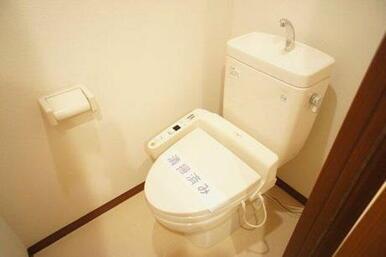 【トイレ】トイレは温水洗浄便座付きです☆ 冬も温かくご利用頂けます☆