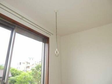 天井には雨の日や花粉の時期でも洗濯物を干せる棒(ホスクリーン)が付いてます♪