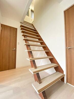 解放感のある階段です。