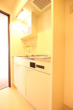 一人暮らしにちょうどいいサイズのキッチン♪
