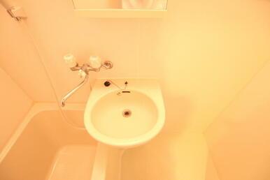 小さいですが洗面台付きです