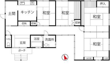 和室4部屋。ゆったりとごろ寝したり、日本家屋の風情を取り込めます。