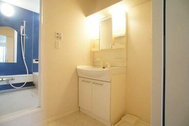 【洗面所】大型ボウル採用です★シャワー水栓が便利です☆