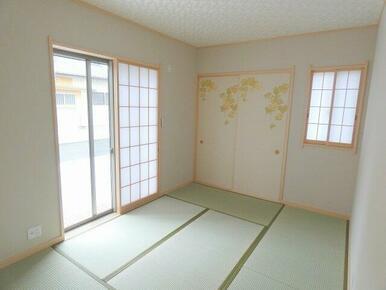 客間として、団らんの場として…目的に合わせて様々に使える和室です