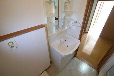 洗髪洗面化粧台/シャワー付きで掃除しやすいです。