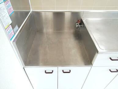 ガスコンロ設置可のキッチン