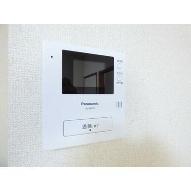 来客時に便利、TVモニター付インターホン