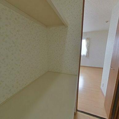 2階7.8帖洋室のウォークインクローゼット