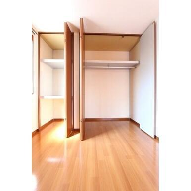 ★クローゼット★奥行があって、床から天井まである収納です。ハンガーレールがあるので洋服を掛ける事がで