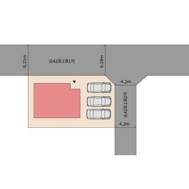 駐車スペース3台分可能