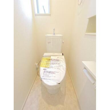 トイレまわりはすっきりとして清潔感あります