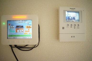 安心の録画機能付カラーモニターホン・太陽光パネルモニターです。現場にてご確認ください。