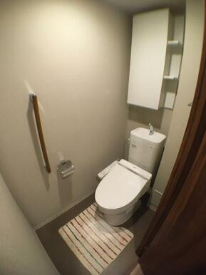【トイレ】充実の収納付き!