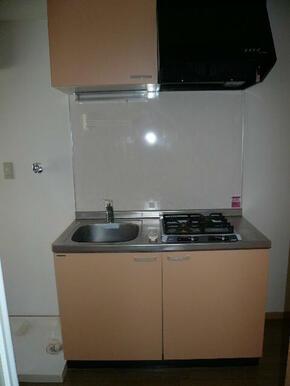 ガスコンロ2口付のキッチン
