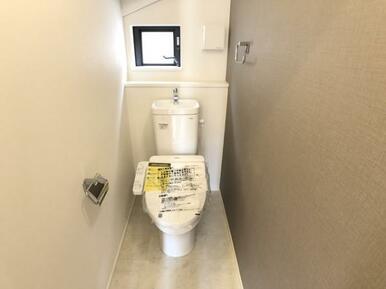 【2号棟トイレ】 家計と環境に優しい、節水型ウォシュレット付トイレ!