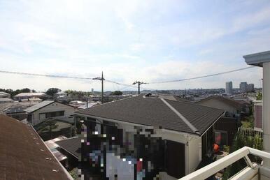 2階バルコニーからの眺め!