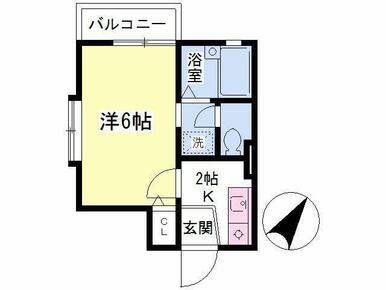 最上階角部屋・2面採光・嬉しいバストイレ別